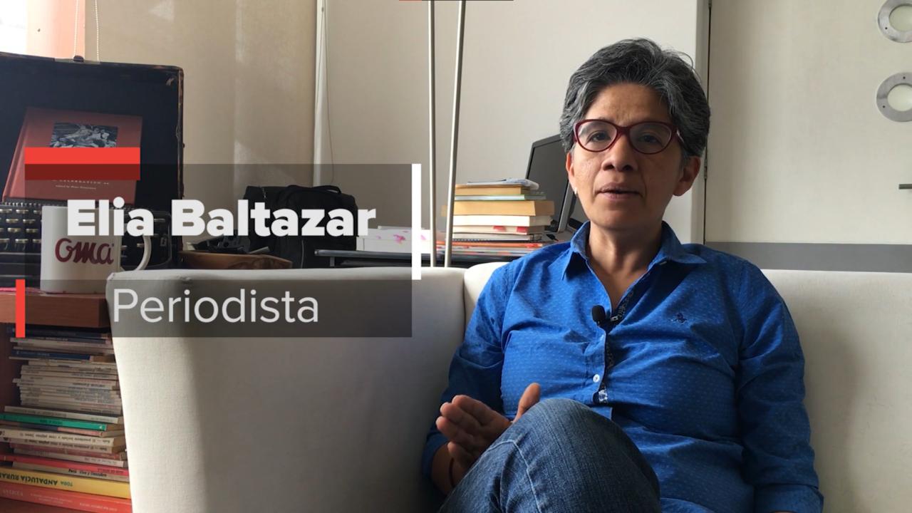 Elia Baltazar hablando